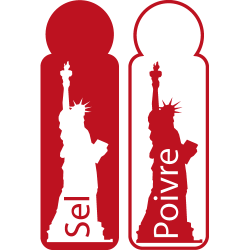 Stickers New York - Sel et Poivre