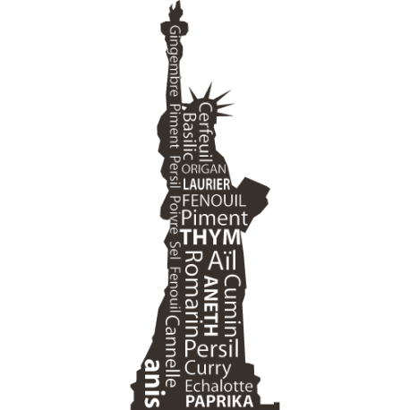 Sticker statue liberté pate a crepe