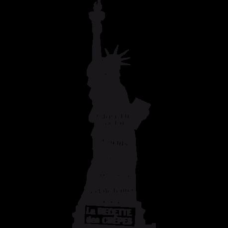 Stickers pate a crepe statue liberte