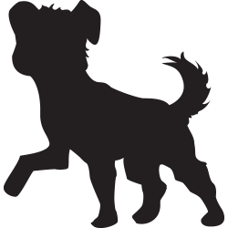 sticker chien de compagnie