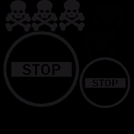 Stickers têtes de morts meubles