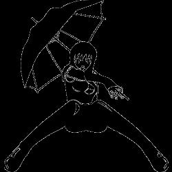 Sticker manga fille