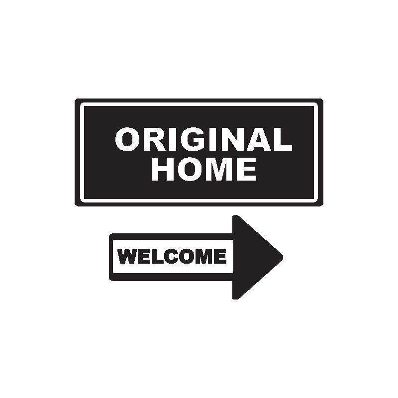 Stickers portes new york original home et welcome par - Stickers porte new york ...