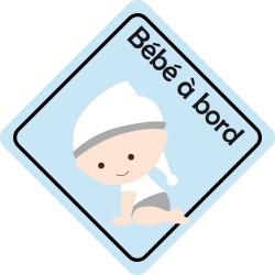 Stickers b'b' à bord - Garcon