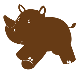 Stickers animaux enfants - Rhinoceros