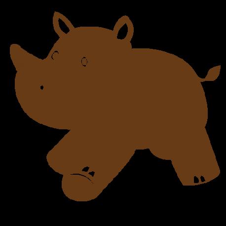 Sticker rhinocéros bebe