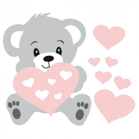 stickers-bb-nounours-rose