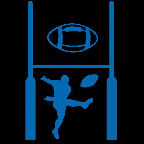 Stickers but joueur et ballon de rugby