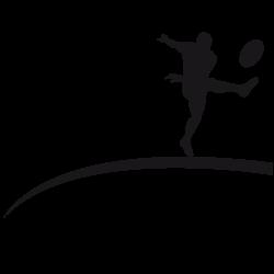 Sticker rugbyman tire et marque