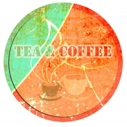 Sticker plaque coffee tea