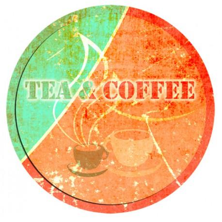 Sticker plaque coffee tea