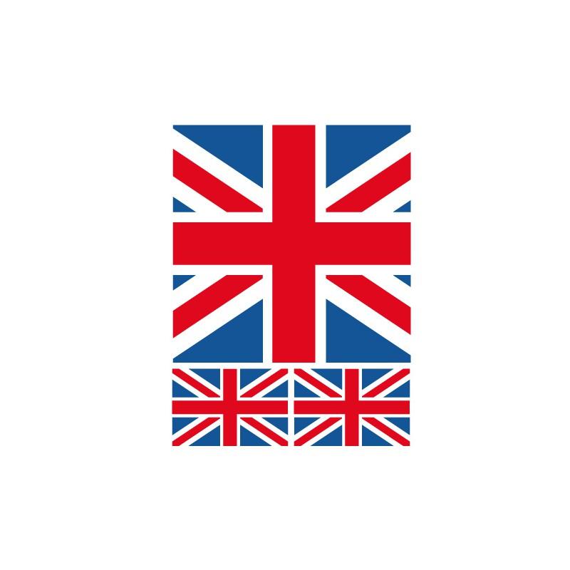 Déco chambre ado style Londres  Kit stickers drapeau anglais