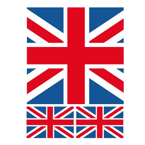 Dco Chambre Ado Style Londres  Kit Stickers Drapeau Anglais