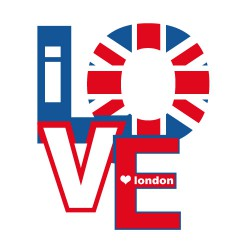Sticker I love London