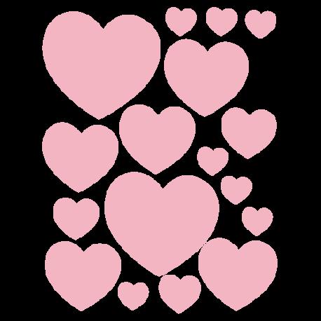 Mini stickers coeurs pour petits objets et murs ad hsifs d co love - Images avec des coeurs ...
