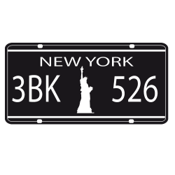 Sticker plaque Immatriculation New York