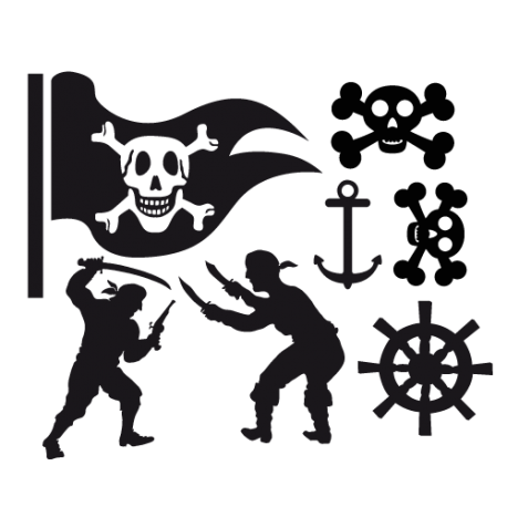 Stickers muraux pirates enfants