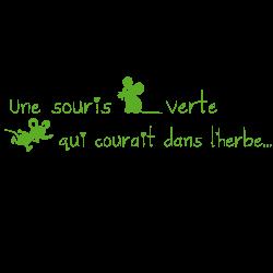 Sticker une souris verte