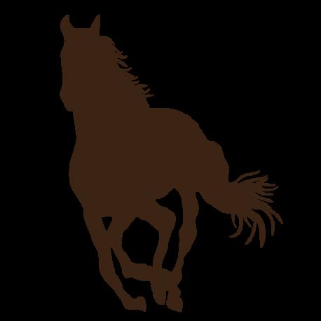 Sticker cheval au trot