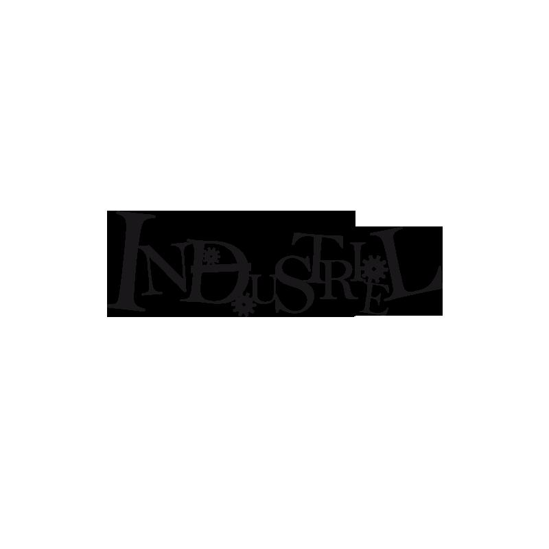 Sticker d co texte industriel avec engrenages un adh sif original - Stickers style industriel ...