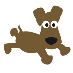 Sticker petit chien