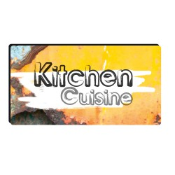 Sticker plaque kitchen
