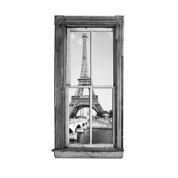 Sticker Paris : fenetre trompe l'oeil NB
