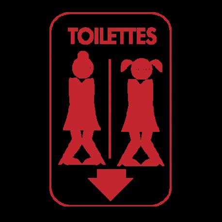 Sticker drole gay pour WC