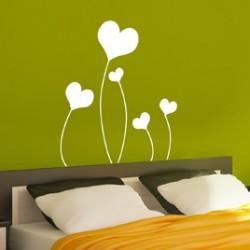 Sticker chambre tete de lit : coeurs