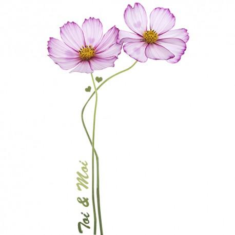 Stickers Fleurs St Valentin