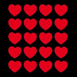 Stickers coeurs de st valentin