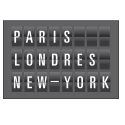 Sticker mural Affichage New York Paris ...