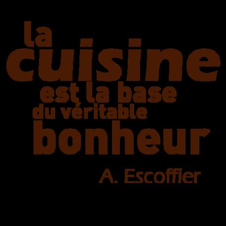 Sticker mural de cuisine d co avec citation d 39 escoffier for Auguste escoffier ma cuisine book