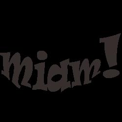 Sticker miam pour cuisine