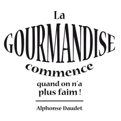Sticker citation la gourmandise