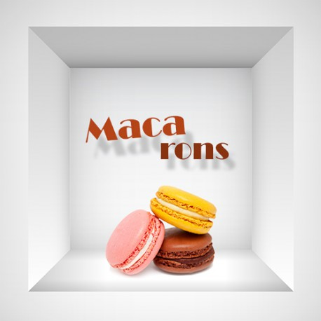 Stickers niche macarons