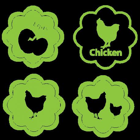 Stickers poules cuisine
