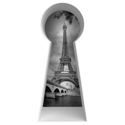 Stickers 3D serrure Paris