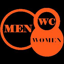 Sticker original de WC Les Cercles homme femme