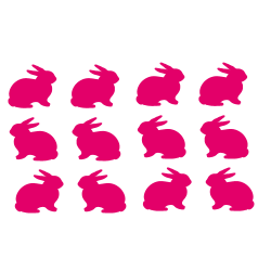 Stickers mini lapin