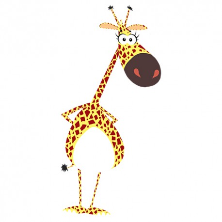 Stickers girafe couleur