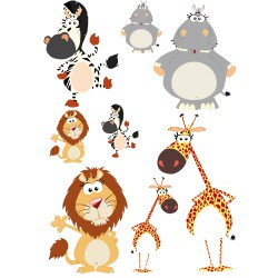 Stickers animaux de la savane