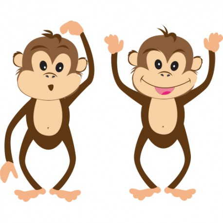 Stickers petits singes