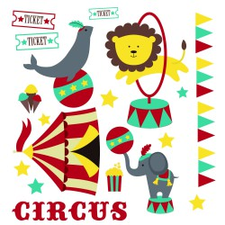 Stickers kit cirque
