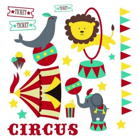 Sticker cirque bébé