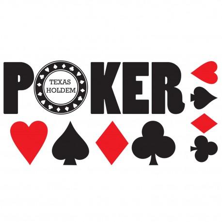 Stickers kit Texte Poker