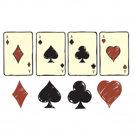 Sticker kit jeu de cartes