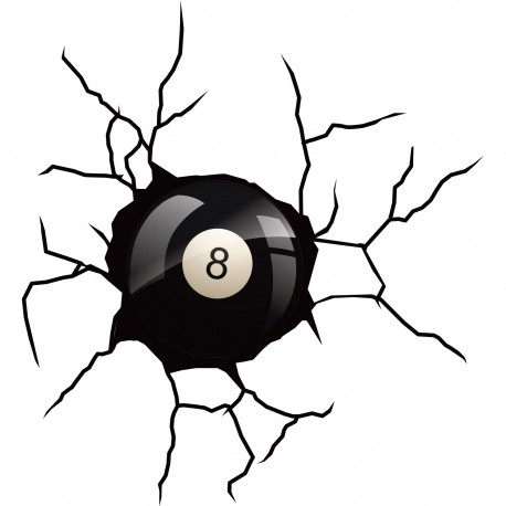 Sticker Boule noire grand format