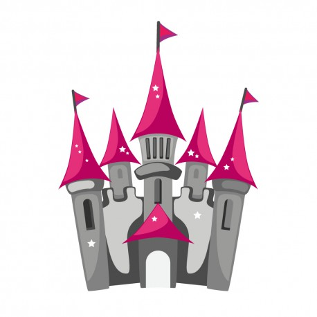 Sticker Chateau de princesse