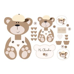 Stickers kit nounours